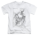 Juvenile: Superman - Exploding Space Sketch T-Shirt