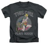 Juvenile: Wonder Woman - Plays Rough T-shirts