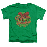 Toddler: Grandma Got Run Over By A Reindeer - Grandma Logo Shirts