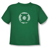Toddler: Green Lantern - Distressed Lantern Logo T-shirts