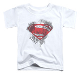 Toddler: Man Of Steel - Face & Logo Shirt