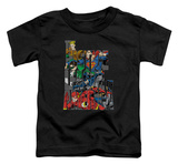 Toddler: Justice League - Lettered League T-Shirt