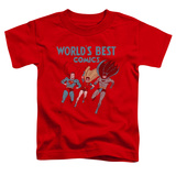 Toddler: Justice League - Worlds Best T-Shirt