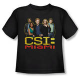 Toddler: CSI Miami - The Cast In Black T-Shirt