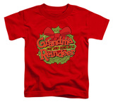 Toddler: Grandma Got Run Over By A Reindeer - Grandma Logo T-Shirt
