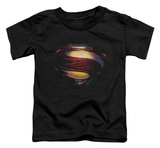 Toddler: Man Of Steel - Grungy Shield Shirts