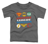 Toddler: Justice League - Pixel Logos T-shirts
