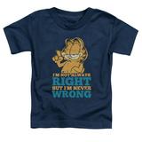 Toddler: Garfield - Never Wrong Shirts