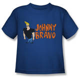 Toddler: Johnny Bravo - Johnny Logo T-Shirt