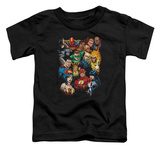 Toddler: Justice League - The League's All Here Shirt
