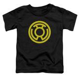 Toddler: Green Lantern - Yellow Emblem T-shirts