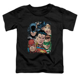 Toddler: Justice League - Up Close And Personal Shirts