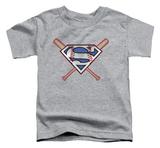 Toddler: Superman - Crossed Bats Shirts