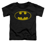 Toddler: Batman - Washed Bat Logo T-shirts