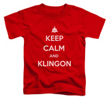 Toddler: Star Trek - Calm Klingon Shirts