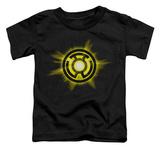 Toddler: Green Lantern - Yellow Glow T-shirts