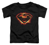 Toddler: Man Of Steel - Glowing Zod Shield T-shirts