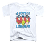 Toddler: Justice League - Faces Of Justice Shirts