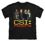 Youth: CSI Miami - The Cast In Black T-shirts