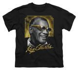 Youth: Ray Charles - Golden Glasses T-shirts