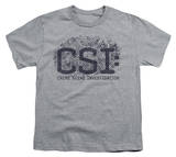 Youth: CSI - Distressed Logo T-Shirt