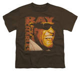 Youth: Ray Charles - Singing Distressed T-shirts