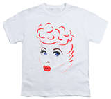 Youth: I Love Lucy - Lines Face T-shirts