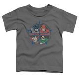 Toddler: Justice League - Four Heroes T-Shirt