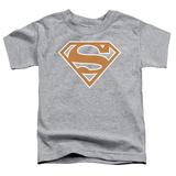 Toddler: Superman - Burnt Orange&White Shield Shirts