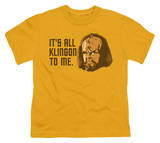 Youth: Star Trek - All Klingon T-shirts