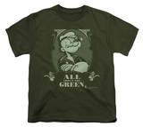 Youth: Popeye - All About The Green T-Shirt