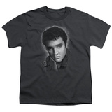 Youth: Elvis Presley - Grey Portrait T-shirts