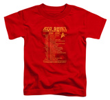 Toddler: Star Trek - Red Shirt Tour Shirt