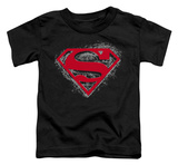 Toddler: Superman - Hardcore Noir Shield T-shirts