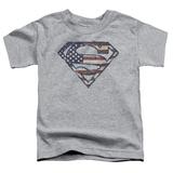 Toddler: Superman - War Torn Flag T-shirts