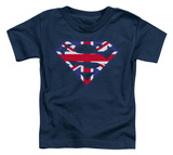 Toddler: Superman - Great Britian Shield T-shirts