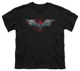 Youth: Dark Knight Rises - Split & Crack Logo T-shirts