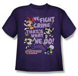 Youth: Powerpuff Girls - We Fight Crime T-shirts