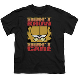 Youth: Garfield - Don't Know Don't Care T-Shirt