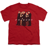 Youth: Friends - Cast In Black T-Shirt