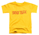 Toddler: Star Trek - Distressed Comic Logo T-Shirt