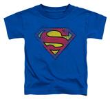 Toddler: Superman - Destroyed Supes Logo Shirts