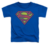 Toddler: Superman - Retro Supes Logo Distressed T-shirts