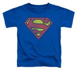 Toddler: Superman - Retro Supes Logo Distressed T-shirts