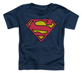 Toddler: Superman - Distressed Shield Shirts