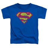 Toddler: Superman - Classic Logo Distressed Shirt