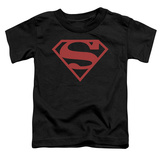 Toddler: Superman - Red On Black Shield Shirt