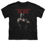 Youth: Dark Knight Rises - Permission To Die T-Shirt