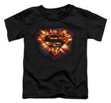 Toddler: Superman - Space Burst Shield Shirts