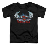 Toddler: Superman - Chrome Wings Shield T-shirts